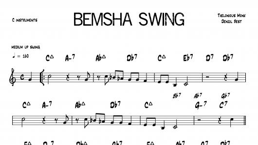 Bemsha Swing Monk PDF download