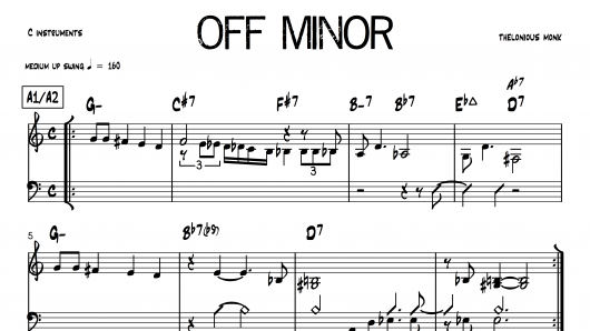 Off Minor Thelonious Monk PDF download lead sheet partition