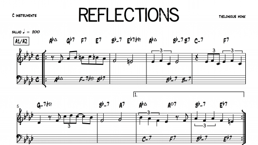 Reflections Monk PDF download lead sheet partition