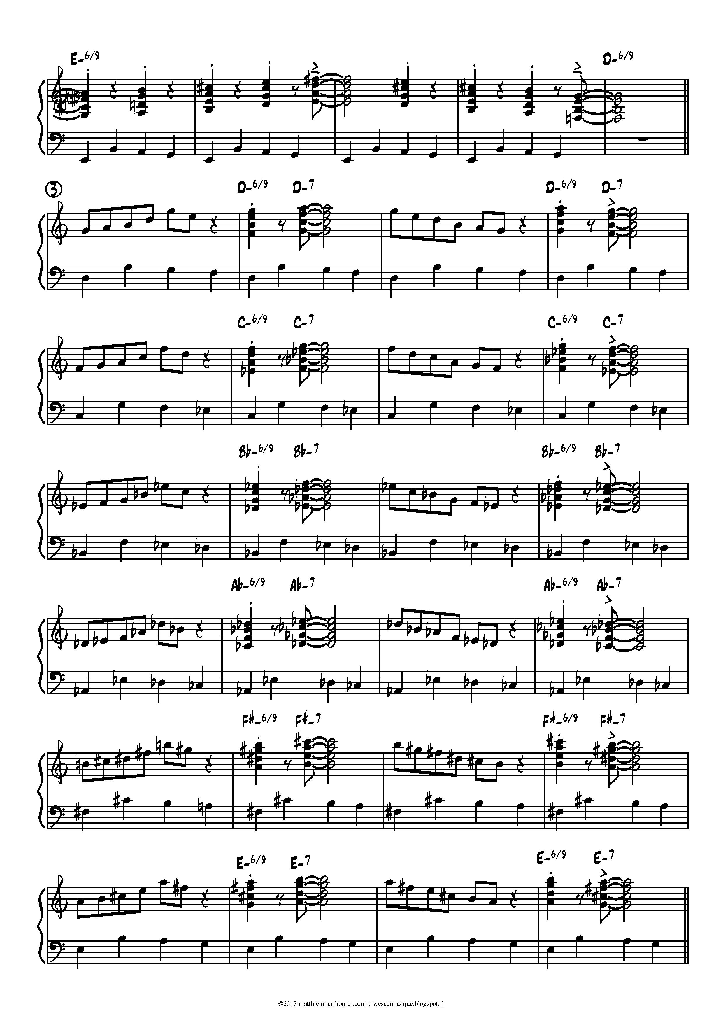 jazz organ workout dorian voicings
