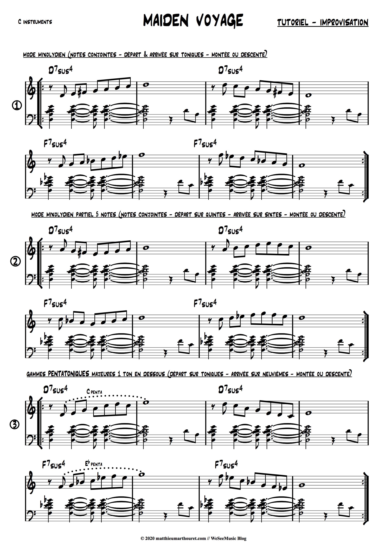 Maiden Voyage Jazz Tutoriel 1