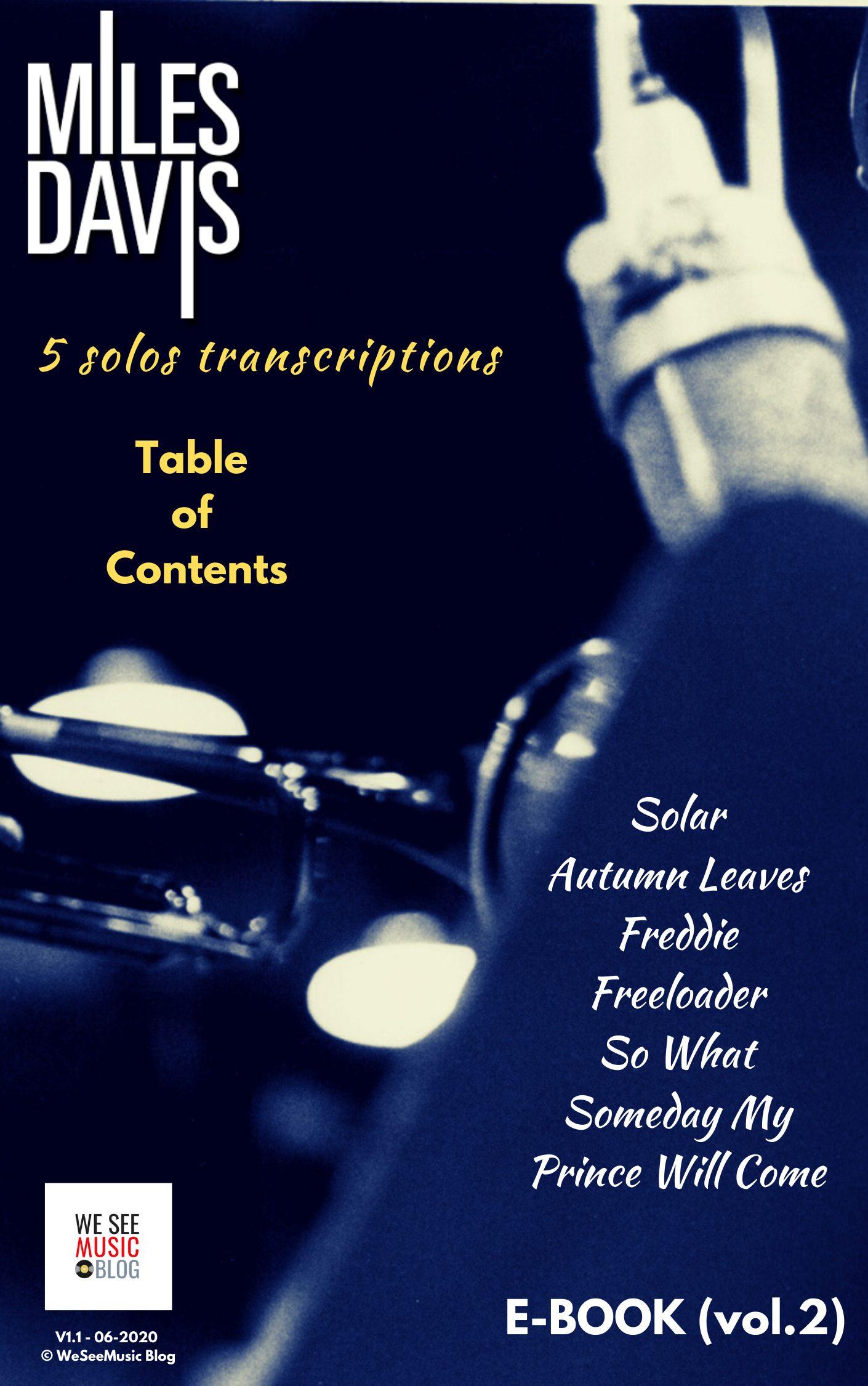 MILES-DAVIS E-book SOMMAIRE