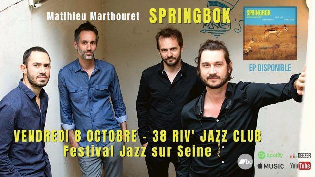 RDV vendredi pour le concert de sortie d'EP du Quartet SPRINGBOK au 38 Riv' Jazz Club
